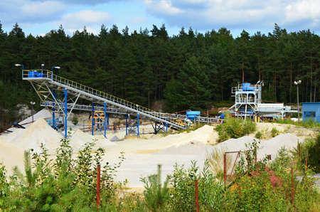 karlovy: sand quarry in Big Luh Karlovy Vary region Czech republic