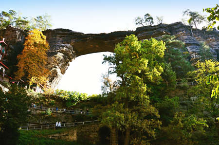 rock arch: rock arch a monument in National park Czech Switzerland Stock Photo