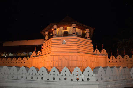 kandy: Temple of the Holy Tooth in Kandy evening - Sri Lanka