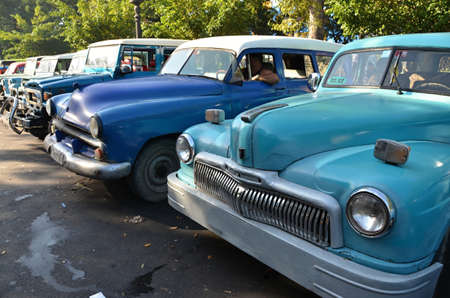 Detail of Historical car in the streets of Havana - Cuba