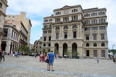 vieja: Old Havana plaza Vieja with  old buildings Editorial