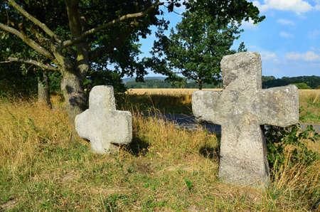 karlovy: Stone crosses - crosses of reconciliation