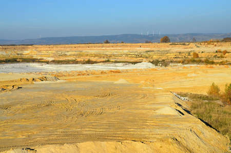 kaolin: Mining quarry for kaolin in western Bohemia Stock Photo