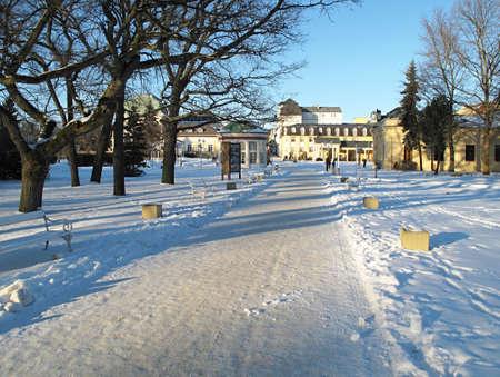 franz: Franz � spring  The pedestrian zone in Franzensbad in the winter