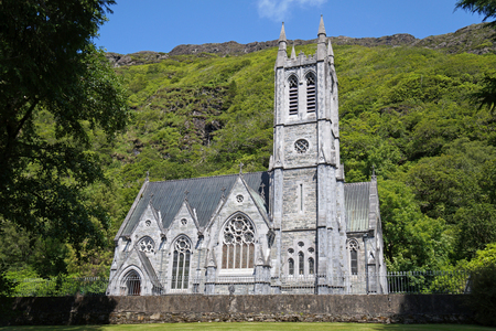 picture shows the church by the Kylemore Abbey in Ireland