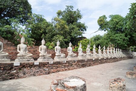 temple complex Watyaichainongkhol in Ayutthaya in thailand Stock Photo
