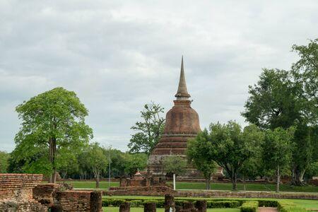 ruins in the historical park in sukhothai Reklamní fotografie