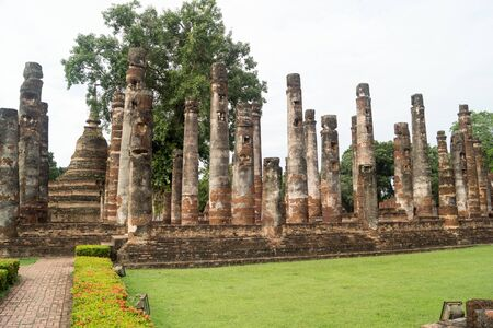 ruins in the historical park in sukhothai Stock Photo