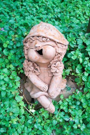 ton figures in a garden