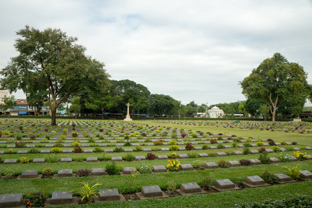 the heroes cemetery allied combat forces Stock Photo