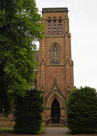Inverness Cathedral, also known as the Cathedral of St. Andrew, is a cathedral of the Scottish Episcopal Church in the city of Inverness in Scotland near the banks of the River Ness. Stock Photo - 109266828