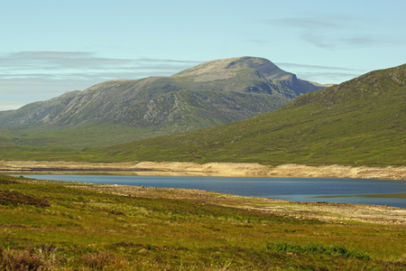 Loch Glascarnoch, a reservoir 7km long, is about halfway between Ullapool and Inverness.
