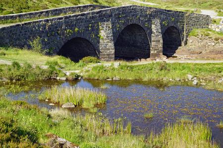 stone bridge in Sligachan Scotland, United Kingdom