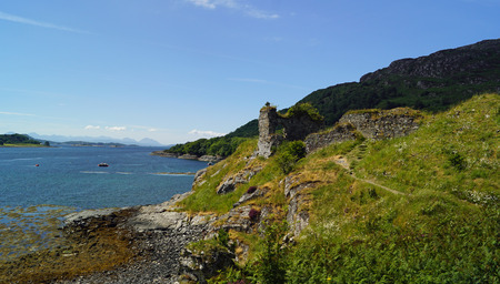 Strome Castle is the ruin of a lowland castle on the banks of Loch Carron in Stromemore, 5.5 km southwest of the village of Lochcarron.