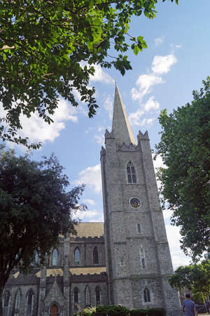 St. Patrick's Cathedral in Dublin, Ireland, is the larger of the two cathedrals of the Church of Ireland in the city.