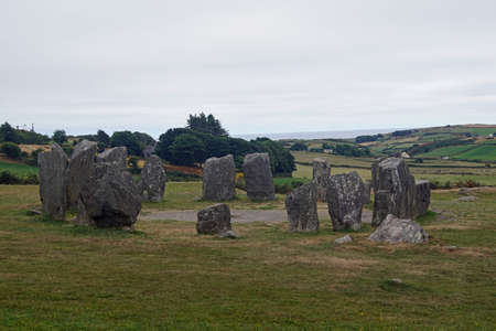 The stone circle of Drombeg is a stone circle of the Cork-Kerry series. It is located in the Townland Drombeg 2.4 km east of Glandore in the Civil parish Kilfaughnabeg, Barony Carbery East in County Cork in Ireland.
