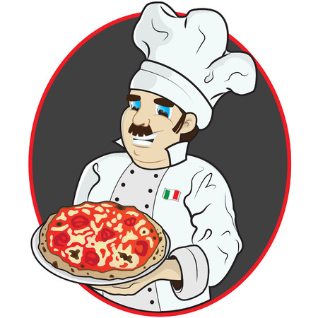 This file represents a chef with a pizza, in a dark grey circle.