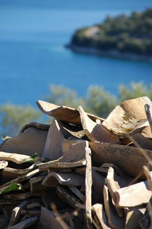 roof tiles: Roof tiles and Greece