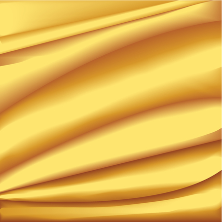 This illustration represents a golden silk drape.