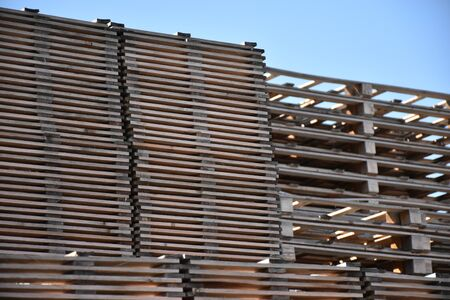This photo represents some pallets.