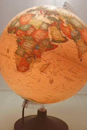 Globe in ancient style