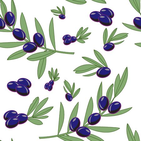 This illustration represents a olive seamless pattern with a white background.