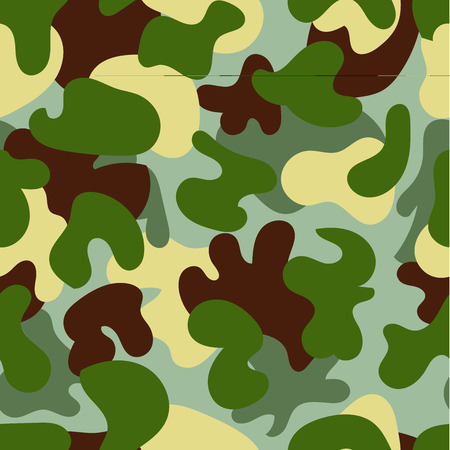 commando: Vector camouflage green seamless pattern. Woodland style