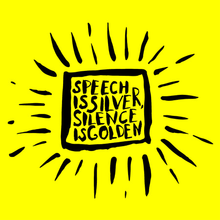 philosophical: Hand drawn banner with philosophical inspiration on yellow background. Vector illustration