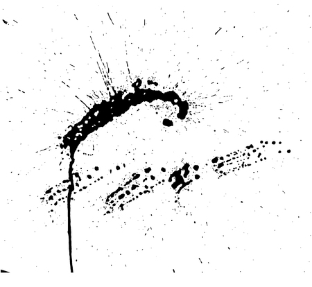 ink drops: Hand-made grunge texture. Abstract ink drops background Illustration