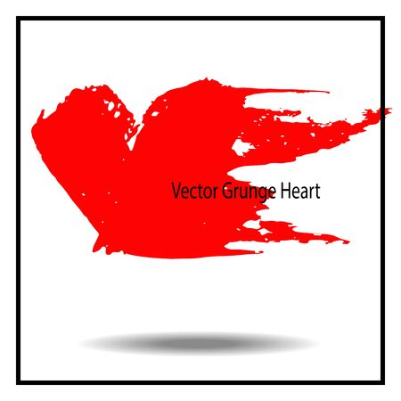 grunge heart: Hand drawn grunge heart. Vector ink illustration