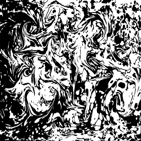 onyx: Black and white marbled abstract background. Vector illustration. Marble ebru texture.
