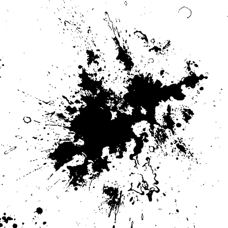 messy: Hand-made grunge texture. Abstract ink drops background. Black and white grunge texture. Vector watercolor grunge texture.