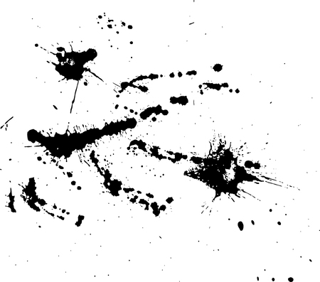 wall paint: Hand-made grunge texture. Abstract ink drops background. Black and white grunge texture. Grunge texture. Vector watercolor grunge texture.