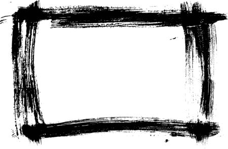 grunge frame: Hand-made grunge texture. Abstract ink drops background. Black and white grunge frame. Vector watercolor grunge frame.