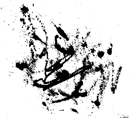 ink drops: Hand-made grunge texture. Abstract ink drops background. Black and white grunge texture. Grunge texture. Vector watercolor grunge texture.