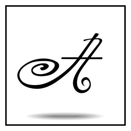 letras negras: fuente hecha a mano elegante. letras blancas de la vendimia negro y A