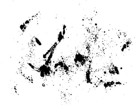 mottled: Black silhouette spot with droplets, smudges, stains, splashes. Ink blot in grunge style. Vector illustration Illustration
