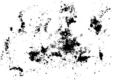smudges: Black silhouette spot with droplets, smudges, stains, splashes. Ink blot in grunge style. Vector illustration Illustration