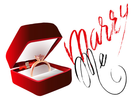 marry: Marry me ring sign icon. Engagement symbol. Marry me lettering. . Vector illustration