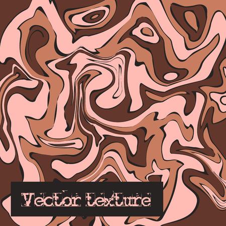 painterly effect: Beige marble texture. Vector illustration. Liquid paint imitation pattern. Digital colorful background in ebru suminagashi technique Illustration