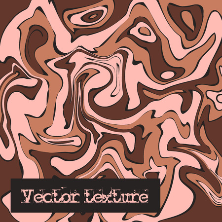 Beige marble texture. Vector illustration. Liquid paint imitation pattern. Digital colorful background in ebru suminagashi technique Illustration