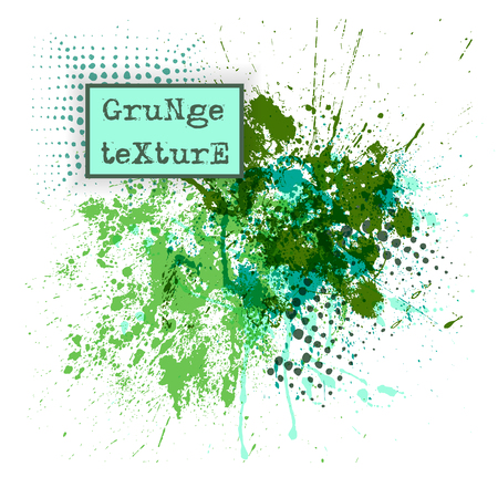 Grunge drops texture. Abstract vector template background. Easy to use