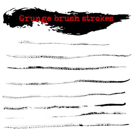 dry: Black ink dry brush strokes Illustration