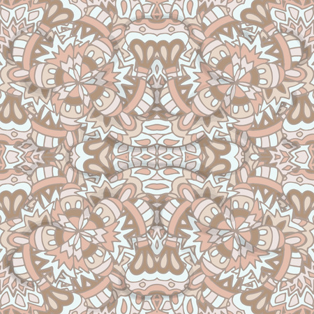 wattled: Damask elegant light wallpaper.Seamless vector background. Tile beige texture.