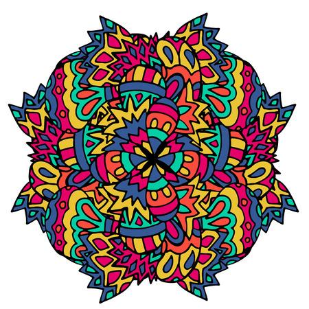 Ethnic patterns,geometric picture. Authentic mandala print. Vector illustration