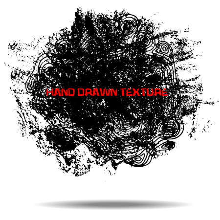 Abstract black sponge stains texture. Design for your brushes and grunge effects