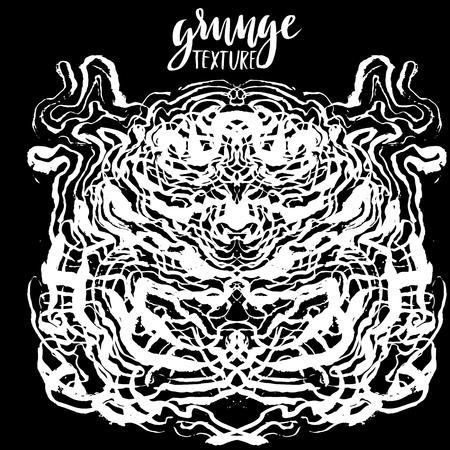 techniek: Inkt grunge textuur. Witte en zwarte abstracte marmeren textuur. Handmade techniek Stock Illustratie