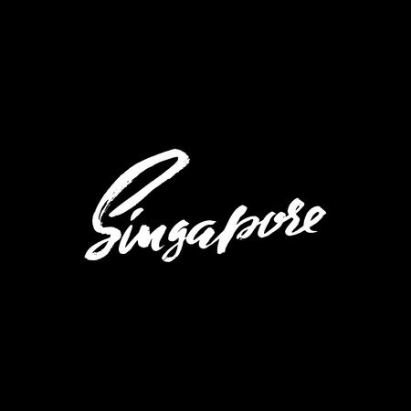 Greetings from singapore greeting card with typography lettering greetings from singapore greeting card with typography lettering design hand drawn dry brush m4hsunfo