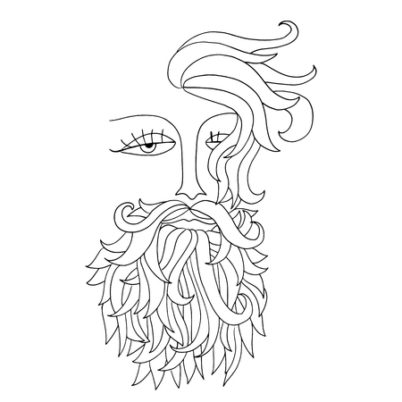 actual: Man with beard. Hipster style. Vector illustration. Illustration