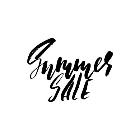 Summer Sale Inscription. Vector handwritten dry brush lettering. Illustration